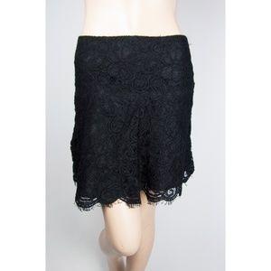 Black Lace Skirt Bottom Boho Bohemian Circle Liner
